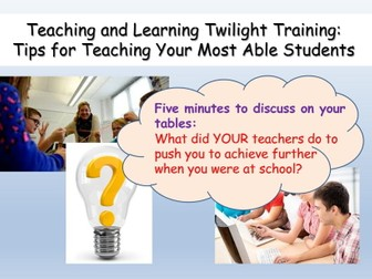 CPD: Teaching Gifted and Talented / More Able students