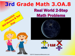3.OA.8 Grade 3 Math Interactive Test Prep– Real-World, Two-Step Word Problems