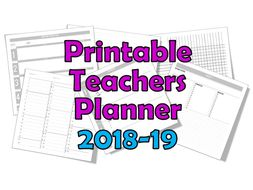 teacher planner 2018 19 printable 4 5 6 7 8 lessons per day by