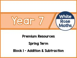 Year 7 - Addition & Subtraction