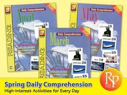 Spring Daily Comprehension {Bundle}