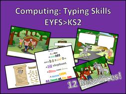 Computing Learn to Type Bundle EYFS>KS2