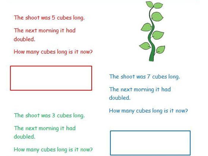 problem solving doubling ks1