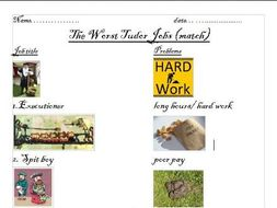 Tudor Jobs The Worst Powerpoint And Worksheet By Ewenadams