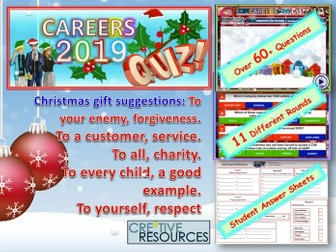 Careers Christmas Quiz 2019