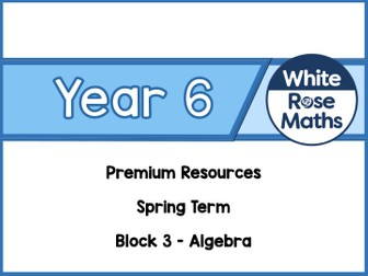 Year 6 - Algebra