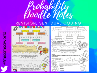 Probability Maths Doodle Note