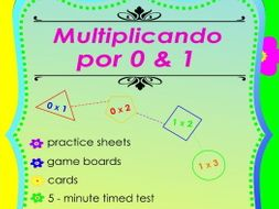 Multiplicando Por 0/1 - Free Spanish Multiplication Math Games and Lesson Plans