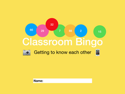 Classroom Bingo - Getting to know each other