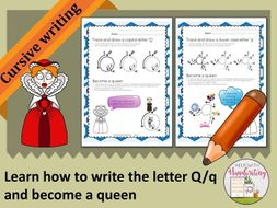 Learn how to write the letter q cursive style and become a queen learn how to write the letter q cursive style and become a queen expocarfo Images