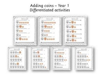 Year 1 adding coins - money