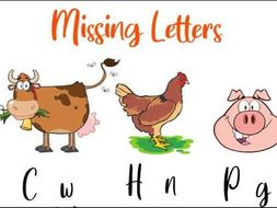 Missing Letters to Name the Animals