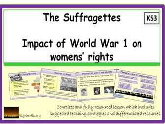 The impact of World War 1 on womens' rights