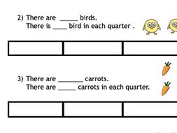 Fractions. Finding Quarters using Bar Model