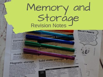 Memory and Storage Revision