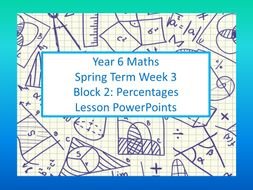 Year 6 Spring Week 3 Block 2 Percentages for White Rose Mastery Maths Individual Lesson Power Points