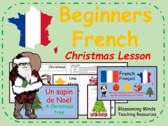 French Lesson and Resources -KS2 - Christmas- Noel