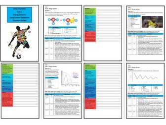 Btec Sport - Level 3 - Unit 1 - Structure Strip - Energy Systems (Long Answer Questions)