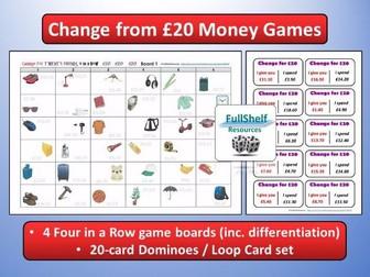 Change £20 Money Games