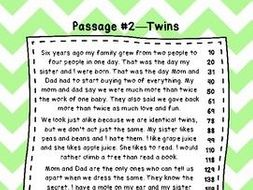 2nd Grade Fluency Passages With Comprehension Questions Set A 1 10