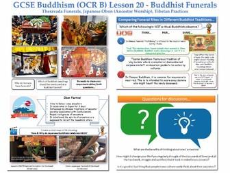 GCSE - Buddhism -Lesson 20  [Funerals, Obon, Rituals/Rites, Death, Customs, Tibetan](J625/04)
