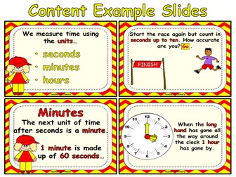 Year 1 Measurement - Time by Online_Teaching_Resources | Teaching