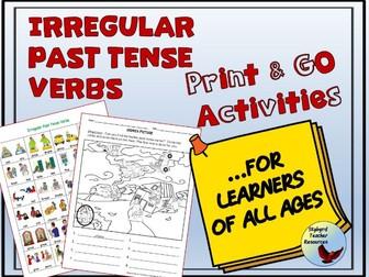 English Irregular Past Tense Verbs No Prep Activities ESL