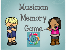 Musician Memory Game-matching instrument and musician