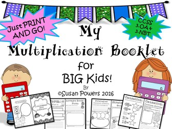A Multiplication Booklet for Big Kids