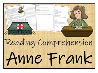 UKS2 History - Anne Frank Reading Comprehension Activity