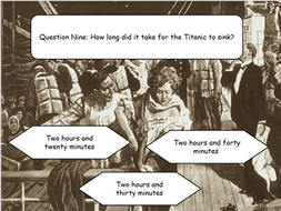 Titanic Quiz Interactive PowerPoint