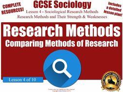 Advantages & Disadvantages of Each Sociological Research Method (GCSE Sociology L4/10)