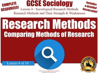 Advantages & Disadvantages of Each Sociological Research Method (GCSE Sociology L4/10)