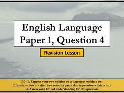AQA English Language Paper 1 Question 4 Revision Lesson
