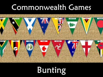 Commonwealth Games 2018 Bunting Display Flags