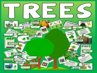 TREES TEACHING RESOURCES AND DISPLAY, SCIENCE PLANTS