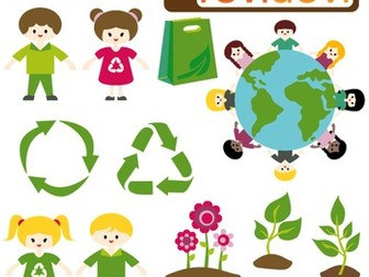 Clip Art Earth Day, Recycle, Go Green (kids, earth, plant)
