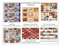 Thanksgiving 6 Board Game Bundle