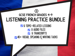 French GCSE LISTENING Practice Bundle