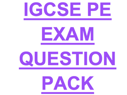 IGCSE PE PAST YEAR QUESTION PACK