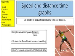 Speed and distance time graphs