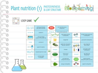 Plant nutrition (Photosynthesis, leaf structure) - Loop Game (KS3/KS4)