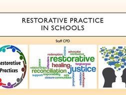 Restorative Practice in Schools - STAFF CPD TRAINING - INSET
