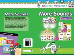 Cut and Paste Phonics US Book 4: More Sounds for Grades 1 and 2 (56 Pages)