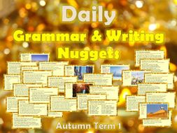 Daily Grammar & Writing Nuggets with Answers - Autumn Term 1st Half