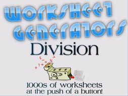 ks short division  worksheet generator by mrajlong  teaching  ks short division  worksheet generator