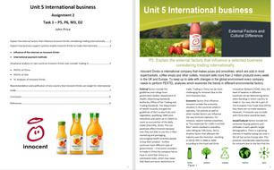 Unit 5 International business, Assignment 2, Learning Aim C & D