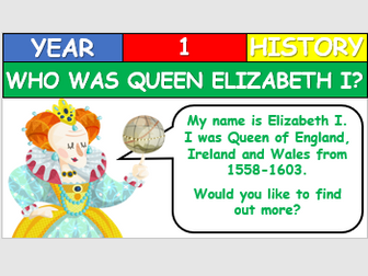 KS1 History - Who was Elizabeth I?