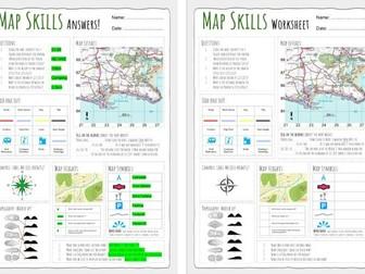 Map Skills Worksheet 1