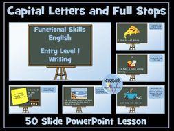 English Functional Skills - Entry Level 1 Writing